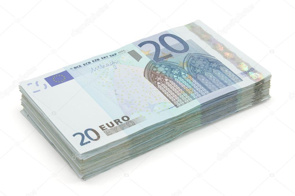 liasse de billets de vingt euros de photographie pimponaco 17436385. Black Bedroom Furniture Sets. Home Design Ideas