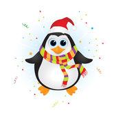 Fotografia pinguino di Natale carino