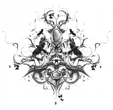 Grunge heraldic design