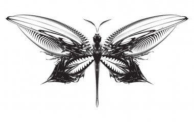Vector abstract mechanical butterfly
