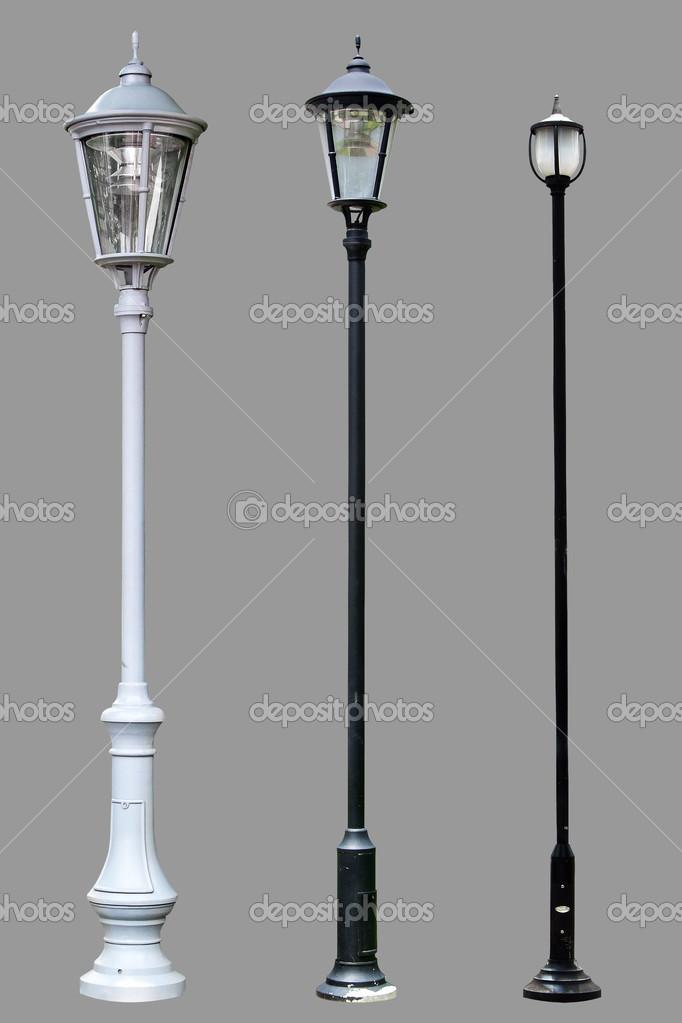 Lamp Post Lamppost Street Road Light Pole Isolated Stock Photo