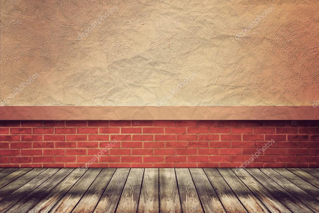 Piso de madera vac o y la pared para vintage wallpaper - Fotos en la pared ...
