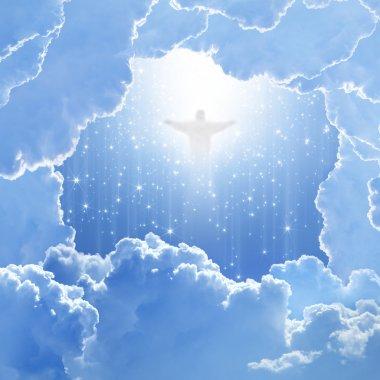 Christ in sky, easter