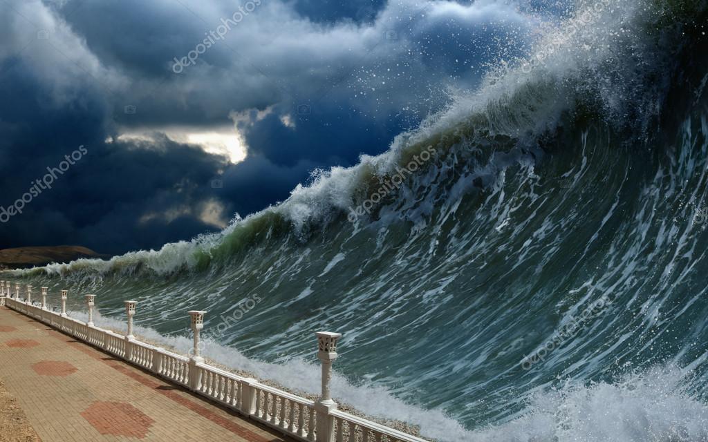津波の波 — ストック写真 © I_g0...