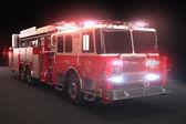 hasičský vůz s osvětlením