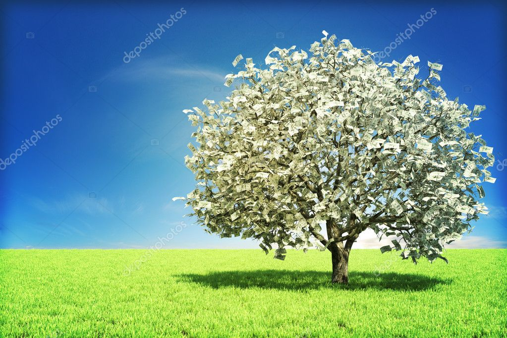 Money tree concept