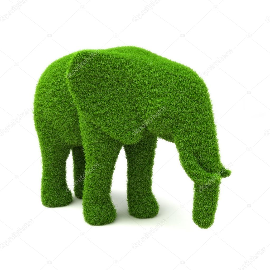 Animal elephant shaped hedge
