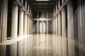 vnitřní sloupec prázdný pokoj