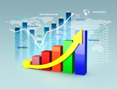 Business plan with graphs and charts