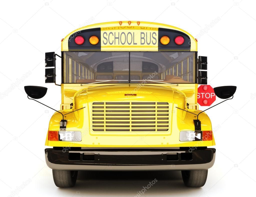School bus front view — Stock Photo © digitalstorm #26332241