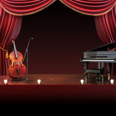 Orchestra symphony themed stage