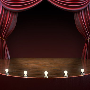 Lighted stage background