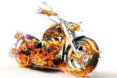 Forró égő lángok kerékpár