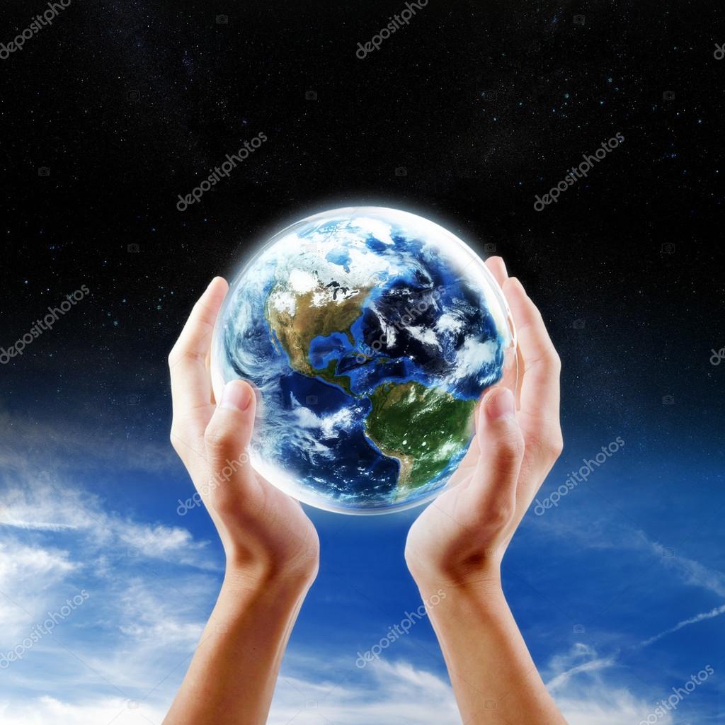 Saving Earth concept