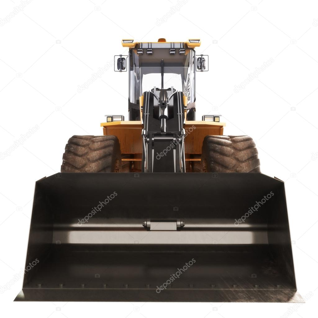 bulldozer excavator front view u2014 stock photo digitalstorm 28077663