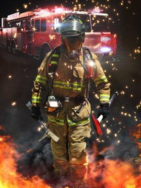Firefighter ready for battle