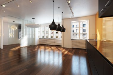 Empty interior residence