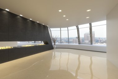 Empty room of a Highrise modern residence