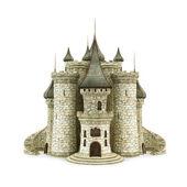 hrad, izolovaných na bílém pozadí