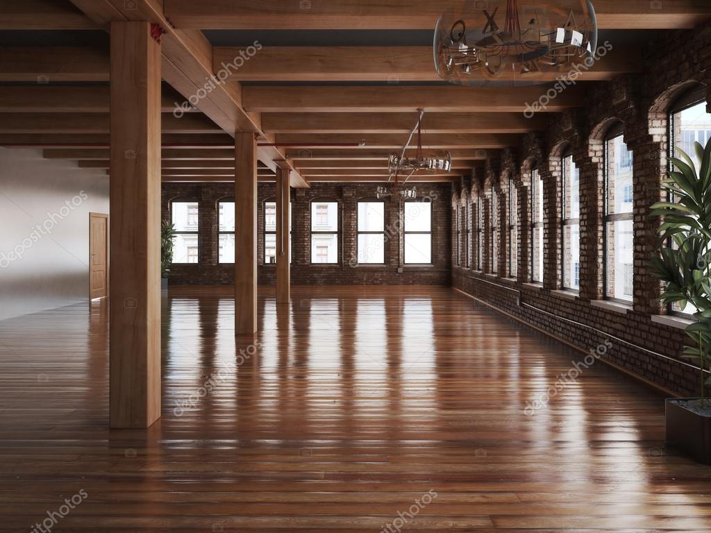 Pavimenti Rustici In Legno : Interno stanza vuota di una residenza o ufficio spazio con legni
