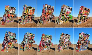 Cadillac Ranch, Amarillio, Texas, USA