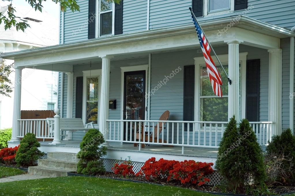 Amerikanische Veranda amerikanische veranda stockfoto mshake 33525821