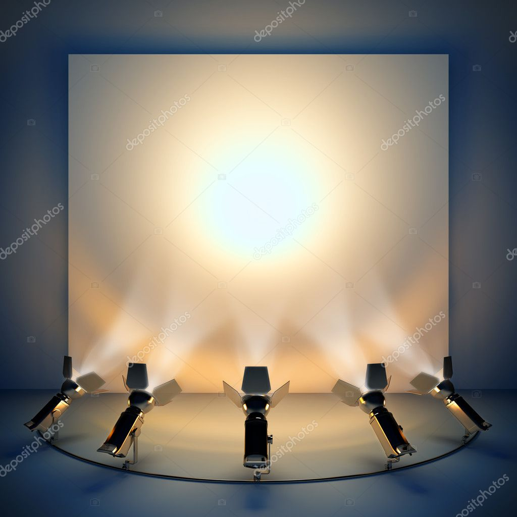 Empty background with stage spotlight.