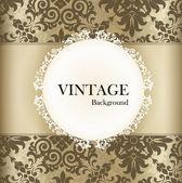 retro vzor bezešvé pozadí s vintage label. vektorové špatně