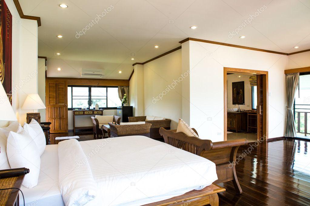 Interior of modern comfortable hotel room