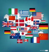 Fotografie World flags. Vector illustration.
