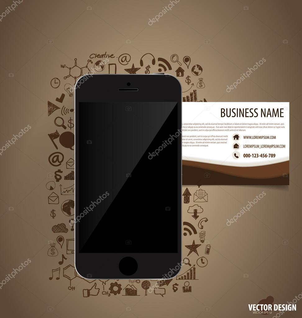 Touchscreen device with application icon and abstract creative b