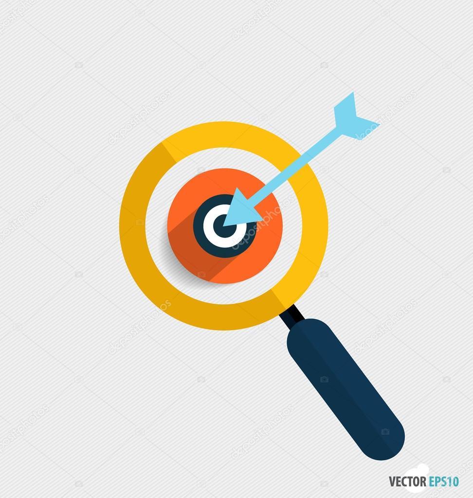 Modern Flat design icon vector illustration. Business working el