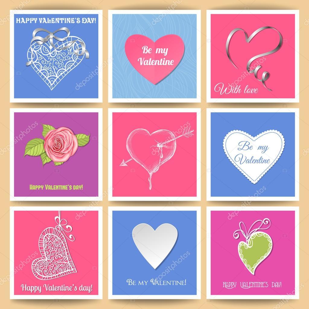 Tag Valentinskarten — Stockvektor © katerinamk #38648571