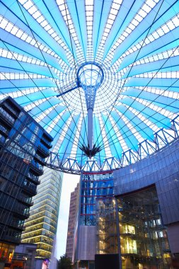 Potsdamer platz, futuristic dome of Sony center in Berlin
