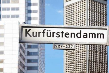 Kurfurstendamm sign, shopping street in Berlin