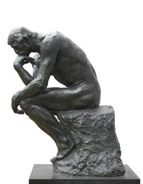 Rodin Thinker, thinking concept