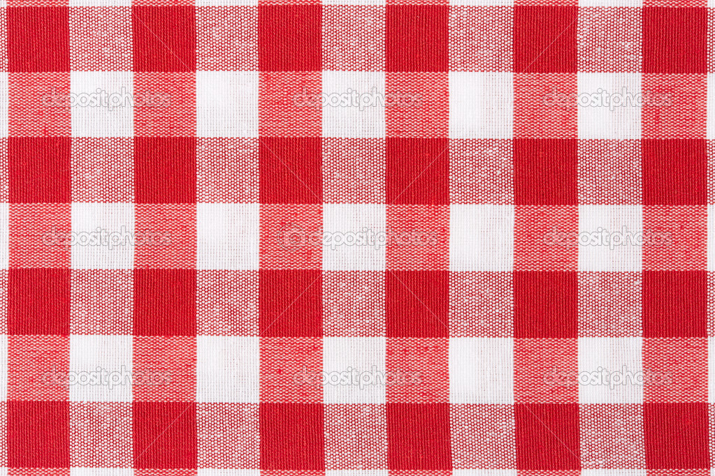Fond De Texture Nappe Rouge Et Blanc Photo 26142027