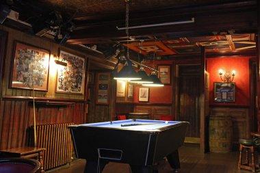 billiard room, in Scottish pub