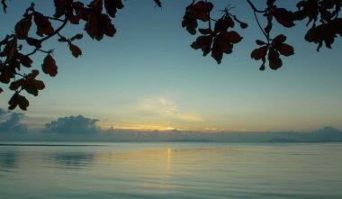 Beautiful sunrise over the sea,Samui,Thailand stock vector