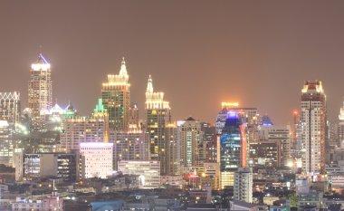 Bangkok city view skyscrapers at Dusk