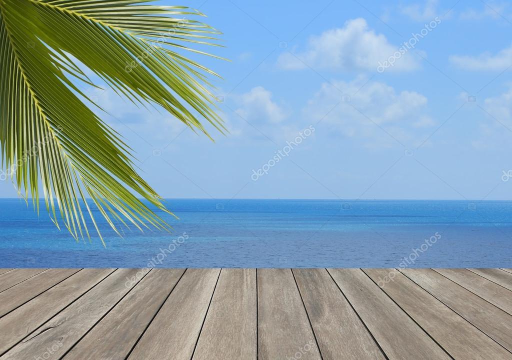 Wood plank over beach