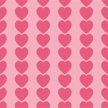 Seamless pink hearts icon background design stock vector