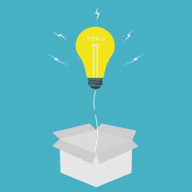 light bulb idea,think outside the box concept