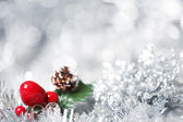 stříbrné Vánoční pozadí