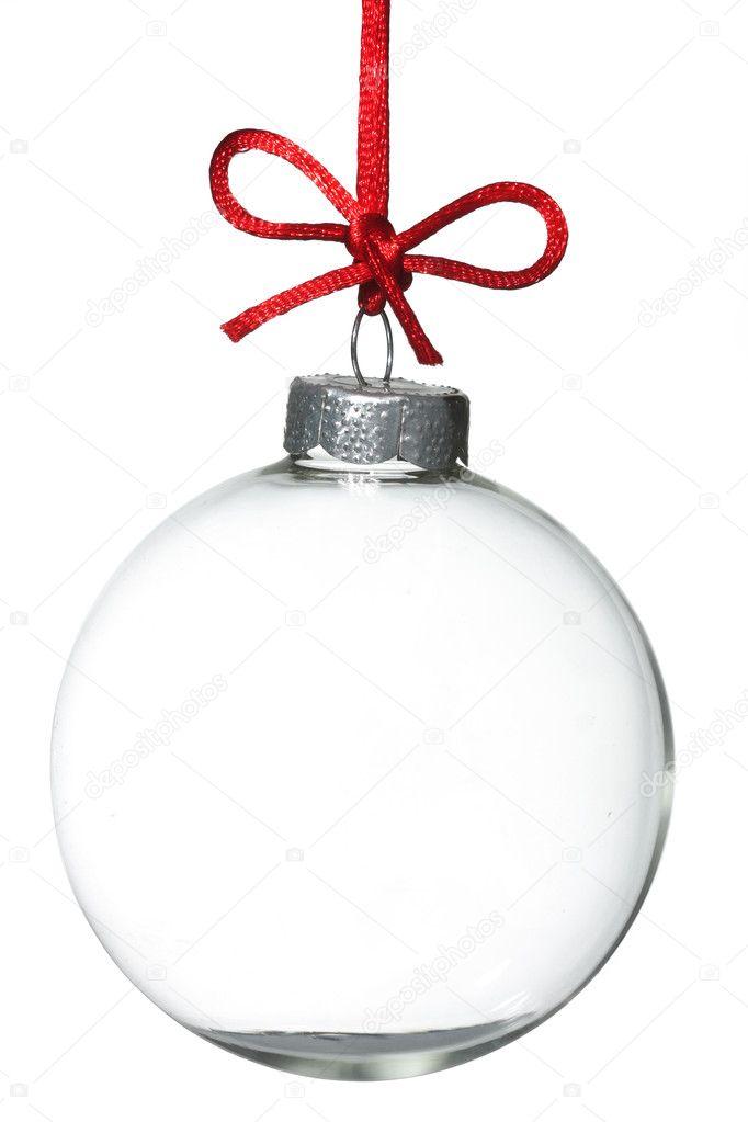 Empty Christmas ornament