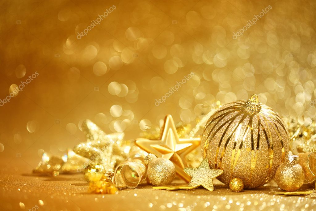 Golden Christmas Background Stock Photo 169 Ssilver 35578581