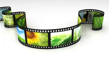 Filmstrip with images stock vector