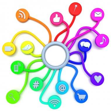 Social media connections stock vector