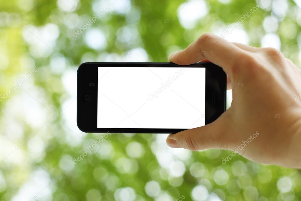 Taking a picture with a smart phone
