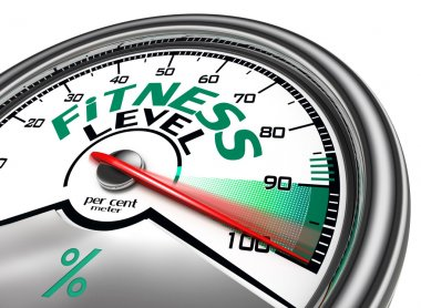 fitness level conceptual meter
